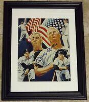 Mickey Mantle & Joe DiMaggio Signed Autographed Baseball Photo Beckett BAS LOA!