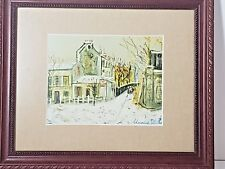 Maurice Utrillo 1883 - 1955 Small Color Lithograph Rue St Vincent Matted framed
