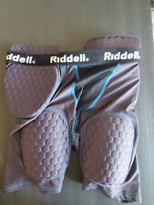 Riddell Compression Shorts Padded Football Adult Size L Black Athletic Jock