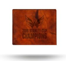 Washington Capitals 2018 Champions Brown Wallet BillFold Premium LEATHER Bifold