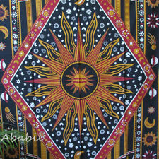 New Psychedelic Tapestry Celestial Multi Sun and Moon Indian Tapestries