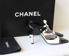 AUTHENTIC RARE CHANEL GORGEOUS SPECTATOR SHOES BLACK & OFF WHITE 37  6