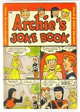 ARCHIE'S JOKE BOOK #1 Gags & Gals! Golden Age Archie Comic Book ~ VG/FN