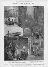 1906 Antique Print - HOLLAND Amsterdam SS Rembrandt Flooding Canal Houses (301)