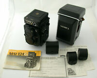 YASHICA Mat-124G 124 G 6x6 mechanic iconic serviced 1,5 Volt full set MIT EXTRAS