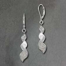 Ohrhänger Zirkonia weiß Ohrringe 925 Silber Zopf Damen SDO4286W [imppac]