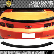 Fits 10-13 Chevy Camaro Flush Mount Trunk Spoiler Wing Abs Painted Matte Black