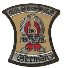 "MC Custodes Pfaffenhofen ""Color"" 1978 extrem selten Patch Biker Aufnäher Rar Neu"
