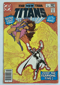New Teen Titans No. 3 (DC, 1981) VF+ 1st Fearsome Five! Dr. Light Wolfman, Perez