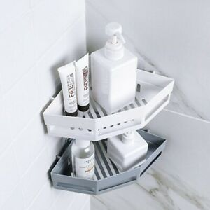 Triangular Shower Shelf Bathroom Corner Bath Rack Storage Holder Organizer 8GT5