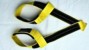 Fitness bodybuilding Weight Lifting  Gym Straps extra grip Support strap Yellow