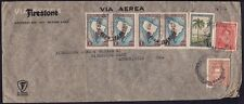 ARGENTINA 1937 COVER to USA  - FOLDED and one stamp TORN @JD9219