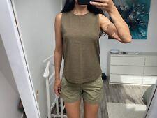 Ensemble kaki short Ralph Lauren top H&M w26 34 36 S vert militaire