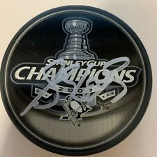 SIDNEY CROSBY auto PITTSBURGH PENGUINS signed autographed stanley Cup puck COA