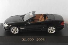 MERCEDES SL 600 R230 2003 M2 ROADSTER BLACK IXO ALTAYA MB-52 1/43 CONVERTIBLE