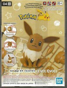 Bandai Pokemon Kit Eevee / Evoli ',(Assis) Non Colle ,Non Peinture,Rapide