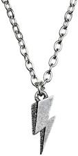 David Bowie Official Flash Pendant Pewter Chain Necklace Charm Logo Retro Ziggy