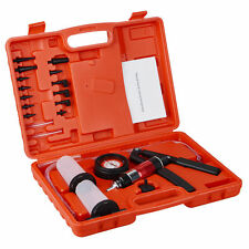 Hand Held Vacuum Pump Brake Bleeder Set Bleed tester Tool Kit 2 Jars Car Bike