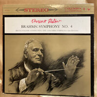 Bruno Walter  Brahms: Symphony No. 4  Columbia Sym. Orc.  Stereo MS 6113  NM