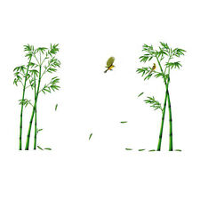 Chinese Wind Stick Bamboo Forest Depths Wall Stickers TV Setting Wall Room S F8J