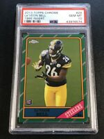 LE'VEON BELL 2013 TOPPS CHROME #29 1986 ROOKIE RC PSA 10