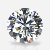 White Sapphire 7mm 2.12ct Round Faceted Cut Shape AAAAA VVS Loose Gemstone