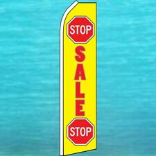 Stop Sale Flutter Flag Tall Curved Top Advertising Feather Swooper Banner Sign