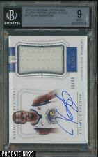 2017-18 National Treasures Clutch Factor Kevin Durant Jersey AUTO 18/49 BGS 9
