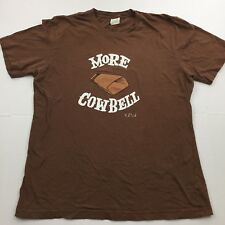 PAUL FRANK More Cowbell SNL Ferrel Walken Brown L Large Short Sleeve T-Shirt
