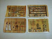 Dr. Ragab Papyrus Institute Egypt melamine small 4 piece souvenir plate tray set
