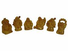 Six Little Shinning Gold Buddha Statues