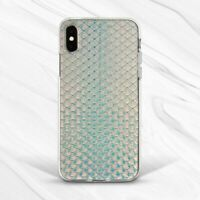 Blue Fish Mermaid Scale Minimalist Case For iPhone 6 7 8 Xs XR 11 Pro Plus Max