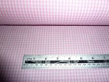 """PINK AND WHITE 1/8"""" GINGHAM CHECK POLY COTTON FABRIC BY THE METRE FREE POSTAGE"""