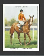 WILLS - RACEHORSES & JOCKEYS 1938 - #14 FREE FARE