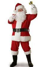 Santa Claus Father Costume Xmas Flannel Suit Mens Adult Fancy Dress