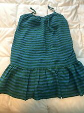 Madewell Sundress Blue And Green Striped ~ XS