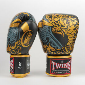 FBGL3 Twins Boxing Gloves / Negas Black-Gold / 8oz ONLY