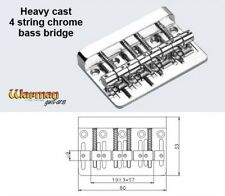 4 saddle heavy chrome BASS guitar bridge