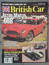 BRITISH CAR MAGAZINE 1995 OCTOBER ASTON DB6 AMBRO TRIUMPH MINI COOPER S LEMANS