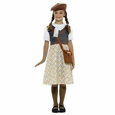Girls Ww2 Evacuee School Girl Fancy Dress Costume Childs Outfit by Smiffys Large 10-12 Yrs