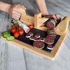 Wooden Food Cutter Super Sharp Sausage Slicer Meat Cutting Tool Kitchen Gadget