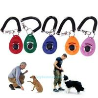 Pet Dog Puppy Animal Training Clicker Button Obedience Trainer Aid Wrist Strap