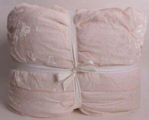 New Pottery Barn Kids Monique Lhuillier Velvet Pintuck fq quilt full queen *issu