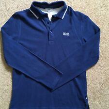Hugo boss boys blue long sleeve polo shirt. Age 12, xs