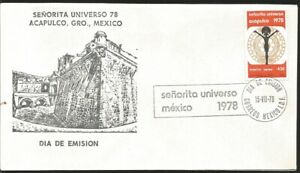 J) 1978 MEXICO, LADY UNIVERSE 78 ACAPULCO GUERRERO, MEXICO, FDC