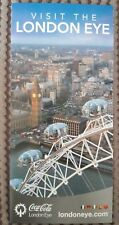 Coca Cola London Eye promotional Flyer / souvenir in German, French, Spanish