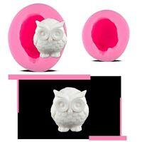 3D Soft Silicone Owl Shape Design Mini Mould Decoration For Cake Deco Soap Use