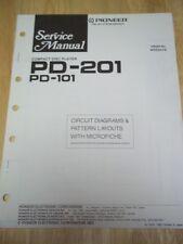 Pioneer Service Manual~PD-201/101 CD Compact Disc Player~Original~Repair~w/fiche