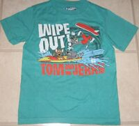 Old Navy TOM AND JERRY WIPE OUT Boys Youth T-Shirt M L XL New NWT Kids Cartoon