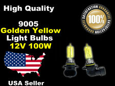 US Seller Xenon Gas Headlight Bulb-100w Golden Yellow 9005+9006 High+Low Beam -B